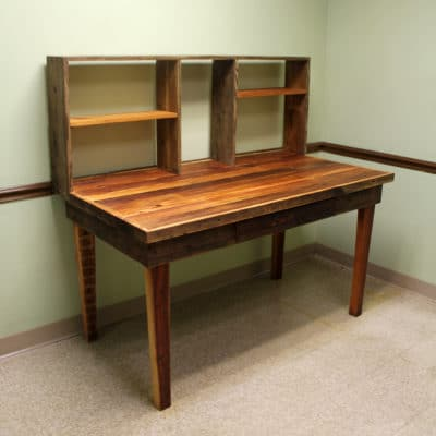 Custom built office desk for private client