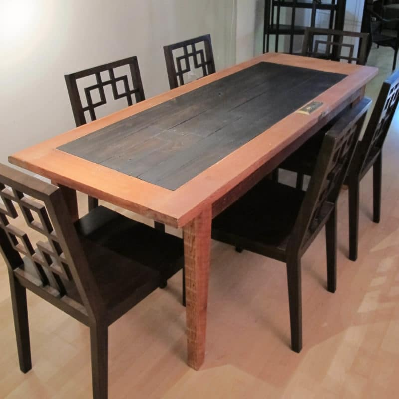 Custom built dining room table for private client