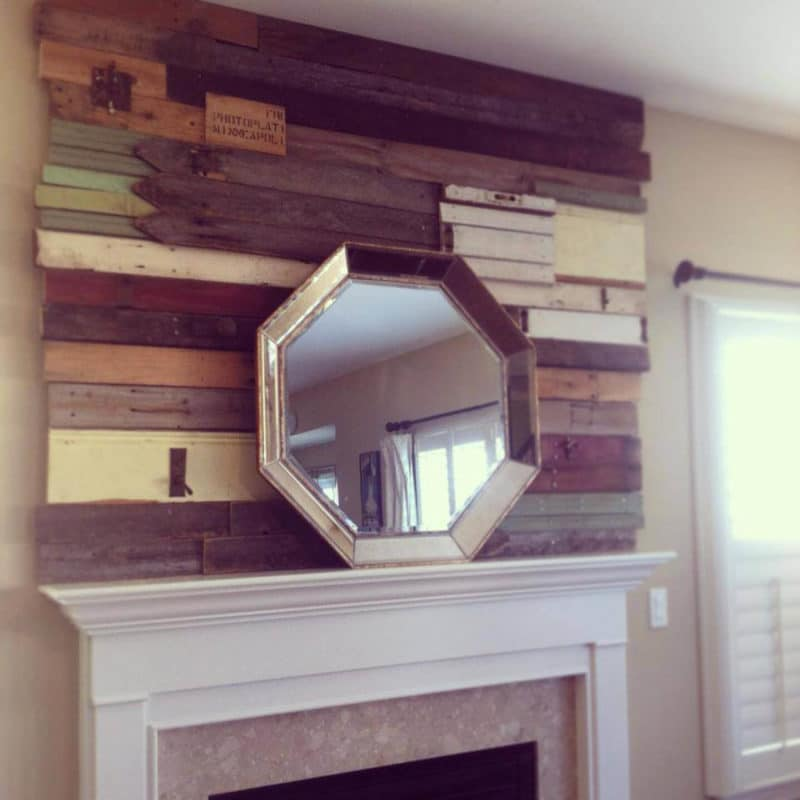Custom built reclaimed wood wall for private client