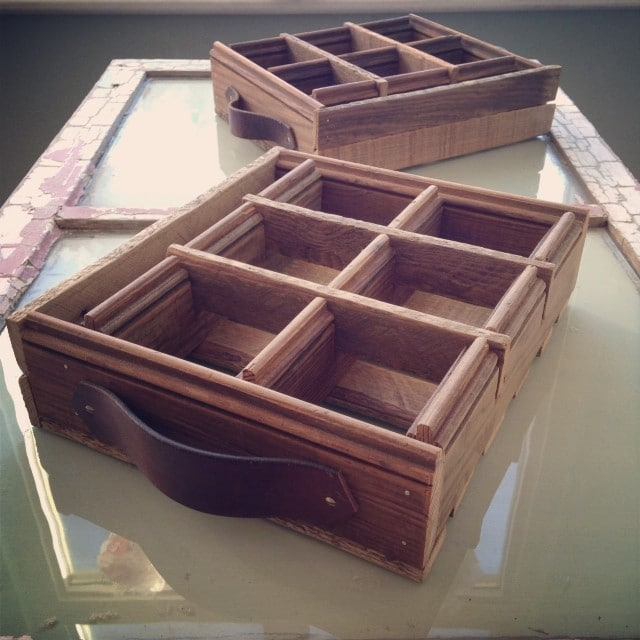 Custom built tea boxes for ReTrailer Tea