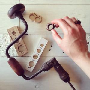 reclaimed wood rings