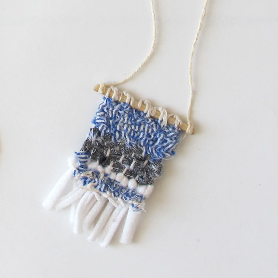 tiny woven necklace detail