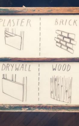 hanging work on walls
