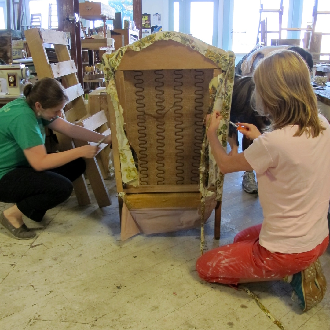DIY Upholstery: Wing Back Chair - perennial