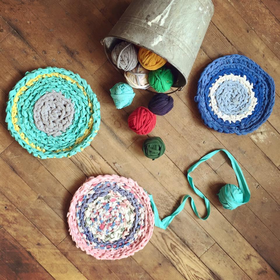 rag weaving class rug rugs