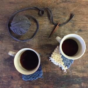 weaving mug rugs