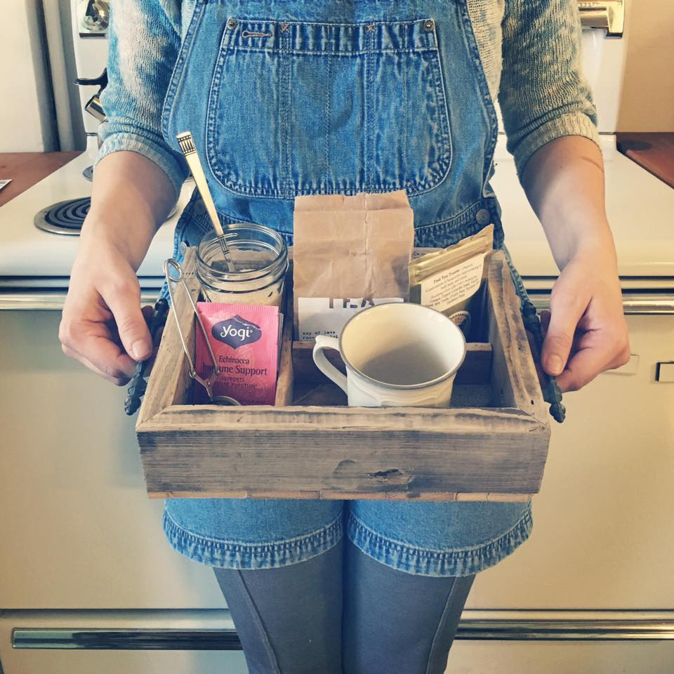Reclaimed Wood Tea Tray - Reclaimed Wood Tea Tray - Perennial