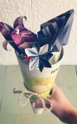 diy flower origami