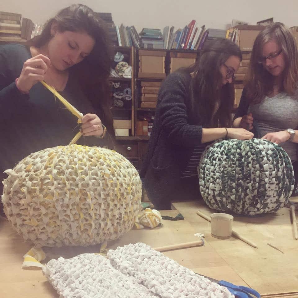 Knitted Ottoman Pouf Perennial
