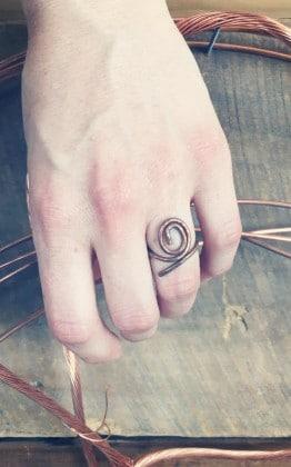 copper spiral ring