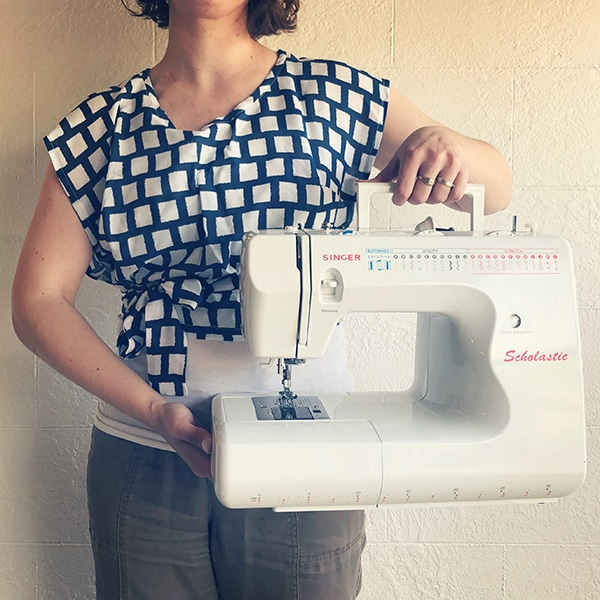 Sewing From Patterns Wrap Shirt Perennial