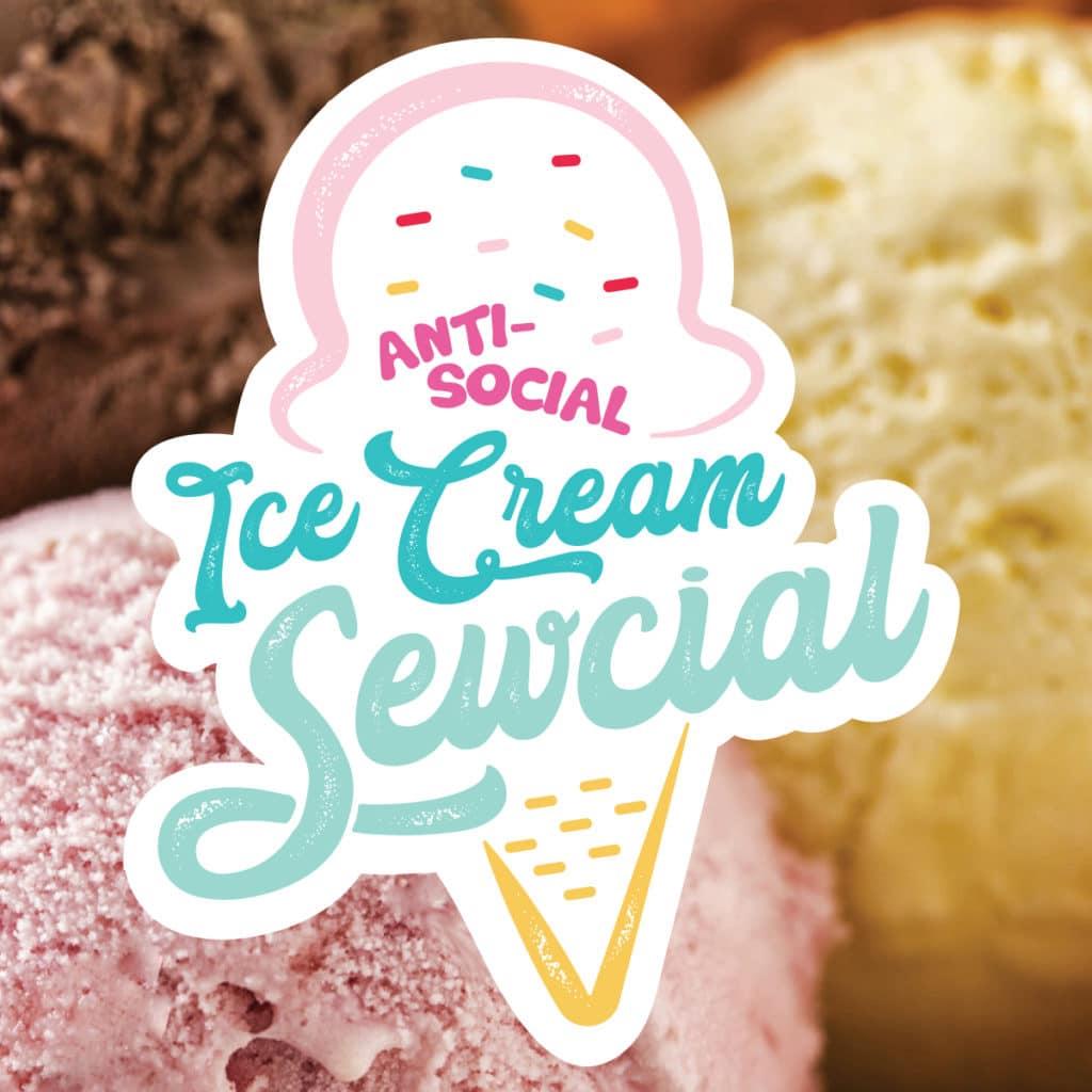 Event logo with ice cream background